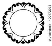 round black and white frame... | Shutterstock .eps vector #400472035