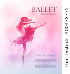 ballerina in dance. vector... | Shutterstock .eps vector #400473775