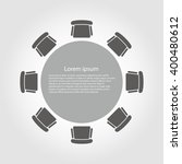 vector round table icon. round... | Shutterstock .eps vector #400480612