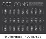 big universal simple icon set... | Shutterstock .eps vector #400487638