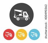 cargo truck icon   Shutterstock .eps vector #400490362