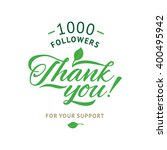 thank you 1000 followers card.... | Shutterstock .eps vector #400495942