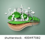 concept of eco friendly and... | Shutterstock .eps vector #400497082