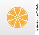 orange icon. slice vector... | Shutterstock .eps vector #400502476