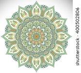 flower mandalas. vintage... | Shutterstock .eps vector #400502806