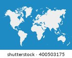blank white simillar world map... | Shutterstock .eps vector #400503175