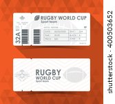 rugby ticket card design ... | Shutterstock .eps vector #400503652
