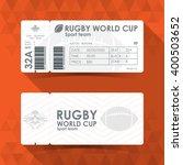 rugby ticket card design ... | Shutterstock .eps vector #400503652