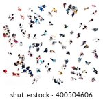 crowd of people blurred on... | Shutterstock . vector #400504606