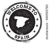 spain map stamp. vintage... | Shutterstock .eps vector #400505782