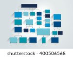 fowchart. blue colored shadows... | Shutterstock .eps vector #400506568