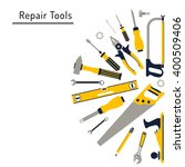 construction repair tools flat...   Shutterstock .eps vector #400509406