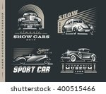 classic car logos illustrations ... | Shutterstock .eps vector #400515466