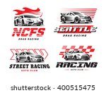 sport cars logo illustration on ... | Shutterstock .eps vector #400515475