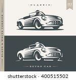 car illustration on dark and... | Shutterstock .eps vector #400515502
