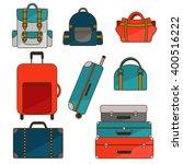 luggage set.  | Shutterstock .eps vector #400516222