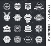 vector set of retro badges ... | Shutterstock .eps vector #400518736