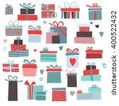 set of vector colorful present... | Shutterstock .eps vector #400522432