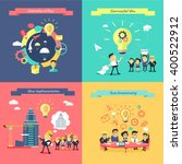 generation of ideas banners set.... | Shutterstock .eps vector #400522912
