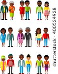 set of  couple people different ... | Shutterstock .eps vector #400524928