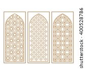 traditional arabic window and...   Shutterstock .eps vector #400528786