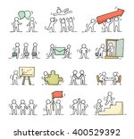 business icons set of sketch... | Shutterstock .eps vector #400529392
