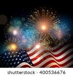 united states flag. fireworks... | Shutterstock . vector #400536676