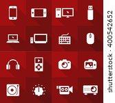 vector flat icon set   gadget  | Shutterstock .eps vector #400542652