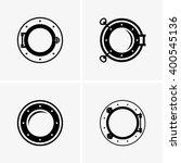 ship porthole | Shutterstock .eps vector #400545136