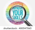 improve your skills word cloud... | Shutterstock . vector #400547065