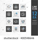 finance line icon set | Shutterstock .eps vector #400548646
