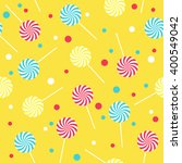 seamless yellow pattern with... | Shutterstock .eps vector #400549042