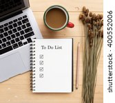 opened notebook with to do list ... | Shutterstock . vector #400552006