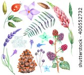 a set  collection with the... | Shutterstock . vector #400552732