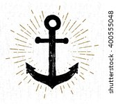 hand drawn vintage icon with a... | Shutterstock .eps vector #400555048