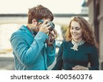 hipster man wants to take a... | Shutterstock . vector #400560376