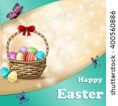 easter background with easter... | Shutterstock .eps vector #400560886