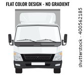 vector small truck front view.... | Shutterstock .eps vector #400562185