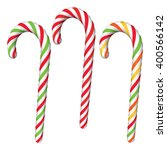 set of various candy canes... | Shutterstock .eps vector #400566142