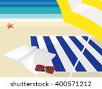 summer vacation. reading book... | Shutterstock .eps vector #400571212