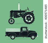 cool vector old farm retro... | Shutterstock .eps vector #400571485