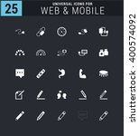 25 universal icon set. simple... | Shutterstock .eps vector #400574092