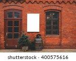 Brick Wall Restaurant Facade...