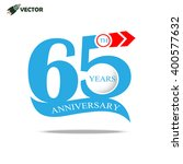 65th years anniversary label... | Shutterstock .eps vector #400577632