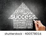 Success Arrow Words Cloud ...