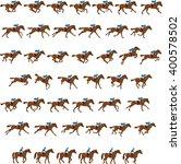 races horse | Shutterstock .eps vector #400578502