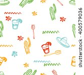 vector seamless mexican pattern.... | Shutterstock .eps vector #400579036