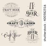 set of vintage beer logos.... | Shutterstock .eps vector #400582516