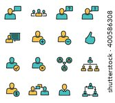 trendy flat line icon pack for... | Shutterstock .eps vector #400586308