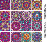 set of ethnic seamless pattern. ... | Shutterstock .eps vector #400588996